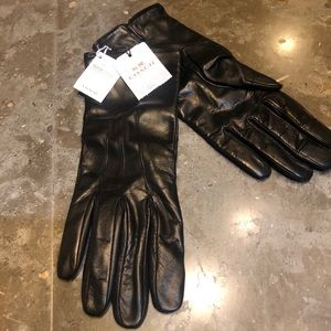 NWOT ✨Coach Leather Wool Lines Tech Gloves